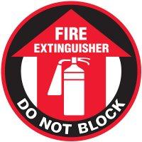 Lexan Heavy Duty Floor Markers- Fire Extinguisher Do Not Block