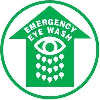 Lexan Heavy Duty Floor Markers-Emergency Eyewash