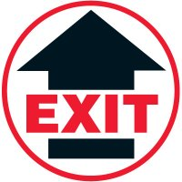 Lexan Heavy Duty Floor Markers-Exit