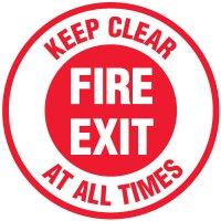 Lexan Heavy Duty Floor Markers-Fire Exit