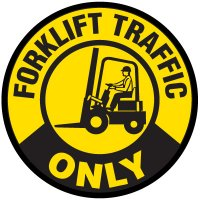 Anti-Slip Floor Markers - Forklift Traffic Only