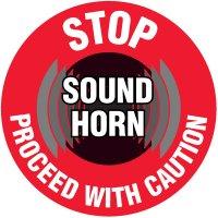 Lexan Heavy Duty Floor Markers-Stop Sound Horn