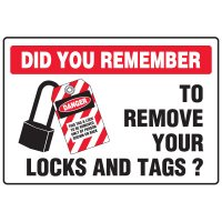 Lock-Out Safety Signs - Did You Remember