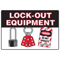 Lock-Out Safety Signs - Lock-Out Equipment