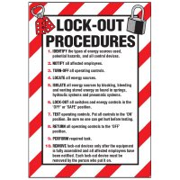 Lockout Hazard Warning Labels - Lock-Out Procedures