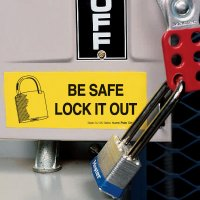 Lockout Labels - Be Safe Lock It Out