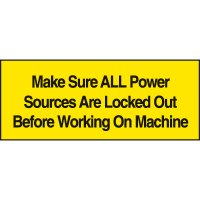 Lockout Labels - Make Sure All Power Sources Are Locked Out