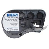 Brady MC1-1000-595-OR-BK BMP51/BMP41 Label Cartridge - Black on Orange