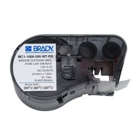Brady MC1-1000-595-WT-RD BMP51/BMP41 Label Cartridge - Red on White