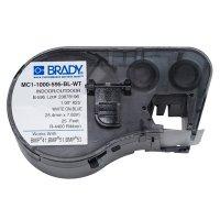 Brady MC1-1000-595-BL-WT BMP51/BMP41 Label Cartridge - White On Blue