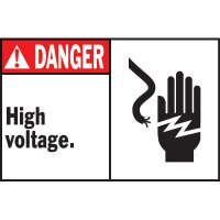 Machine Warning Labels - Danger High Voltage
