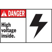 Machine Warning Labels - Danger High Voltage Inside