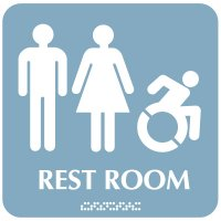 Male/Female Restroom Signs - Dynamic Accessibility