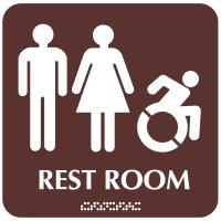 Male/Female (Dynamic Accessibility) - Optima ADA Restroom Signs