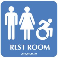 Male/Female (Dynamic Accessibility) - Optima ADA Restroom Signs