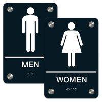 Man/Woman - Premium ADA Braille Restroom Sign Sets