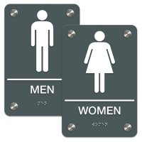Man/Woman - Premium ADA Braille Restroom Sign Sets