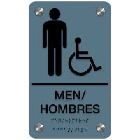 Bilingual Men's Restroom Sign - Men/Hombres