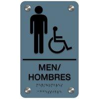 Men (Accessibility) - Bilingual Premium ADA Restroom Signs