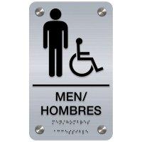 Bilingual Men's Restroom Sign - Men/Hombres