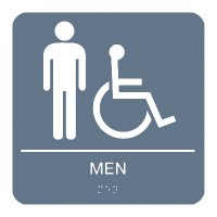 Men (Accessibility) - Braille Restroom Signs