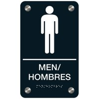 Men - Bilingual Premium ADA Restroom Signs