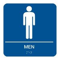 Men - Braille Restroom Signs