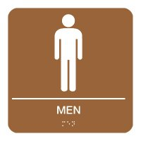 Men - Braille Restroom Signs