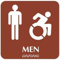 Men (Dynamic Accessibility) - Optima ADA Restroom Signs