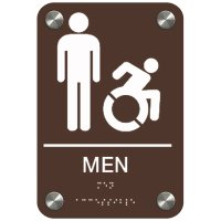 Men (Dynamic Accessibility) - Premium ADA Restroom Signs
