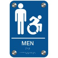 Men (Dynamic Accessibility) - Premium Restroom Signs