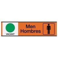 Men Vacant/Occupied - Bilingual Engraved Restroom Sliders