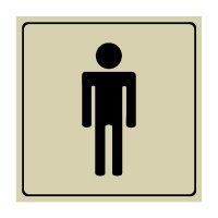 Men's Restroom Sign with Engraved Symbol