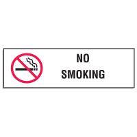 "Mini No Smoking Signs - 3""W x 10""H (w/Graphic)"