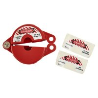 Mini Red Gate Valve Lockout (65560) by Brady
