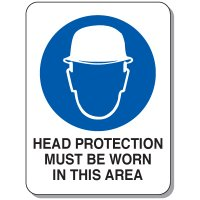 Heavy Duty Protective Wear Mining Signs - Head Protection Must Be Worn In This Area