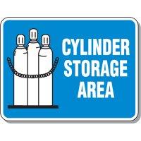 Cylinder Mining Signs - Cylinder Storage Area