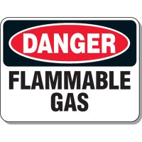 Chemical & Flammable Signs - Danger Flammable Gas