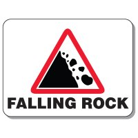 Giant Hazardous Work Zone Signs - Falling Rock