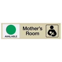 Mother's Room Sign with Sliders - Available/In Use