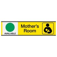 Mother's Room Available/In Use - Engraved Restroom Sliders