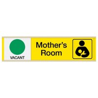 Mother's Room Vacant/Occupied - Engraved Restroom Sliders