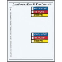 Right To Know Colour Bar Labels - 5 X 7