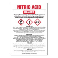 Nitric Acid - GHS Chemical Labels