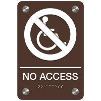 No Access (Accessibility) - Premium ADA Facility Signs