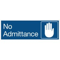 No Admittance - Engraved Graphic Room Signs