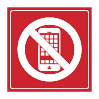 No Cellphone Symbol - Engraved Graphic Symbol Signs