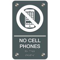 No Cellphones - Premium ADA Facility Signs