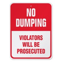 No Dumping Sign