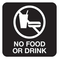 No Food Or Drink - Optima Office Policy Signs